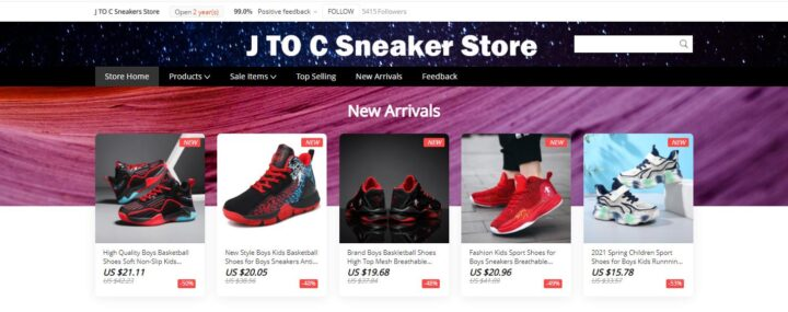 J TO C Sneaker Store