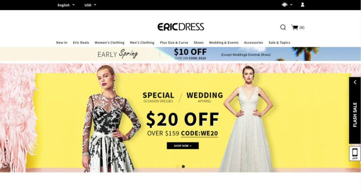 Ericdress online shopping store for wedding